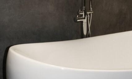 Badkamer met tadelakt